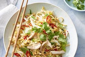 Chicken oriental crispy noodle salad