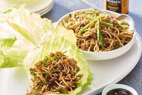 Pork and noodle san choy bau cups