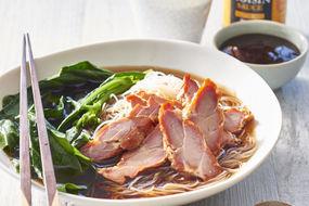 Barbecued pork noodle soup