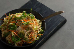 Chicken & Rice Noodle Salad + Changs Oriental Fried Noodle Salad Dressing