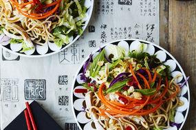 Bang Bang chicken with Asian noodles
