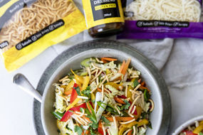 Rainbow Fried Noodle Salad