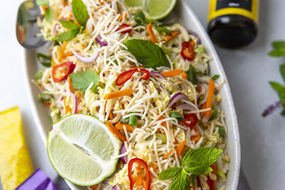 Fried Noodle Salad with Mint, Chilli and Lime