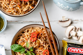 Noodles with Mushroom Bolognese
