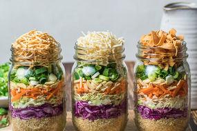 Crispy Noodle Salad with Quinoa in a Jar