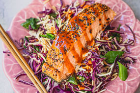 Purple Cabbage Salmon Salad
