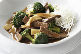 Beef with Broccoli on Crispy Noodles