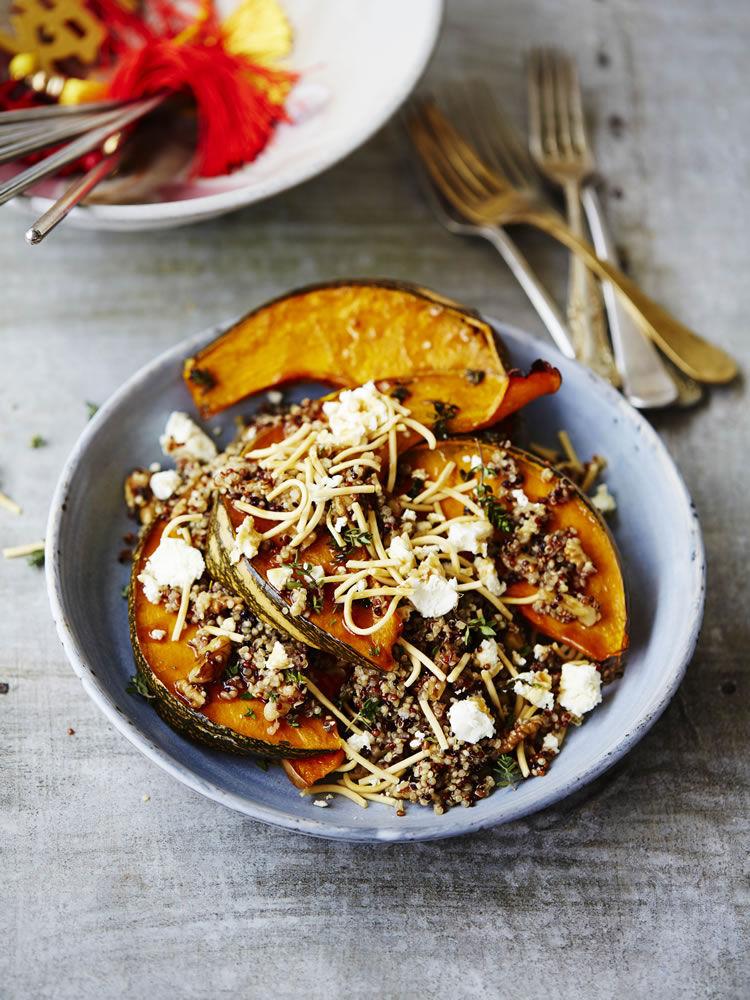 Roast Pumpkin and Quinoa Noodle Salad