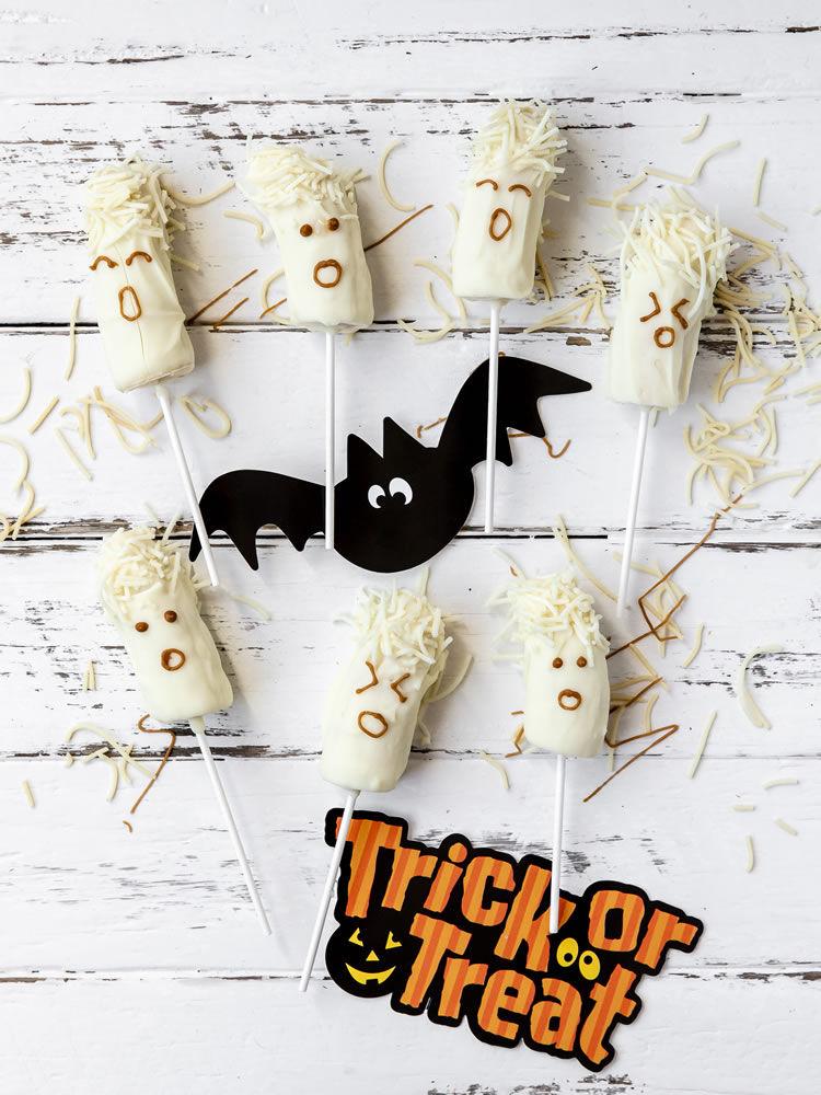 Hairy Scary Banana Ghosts