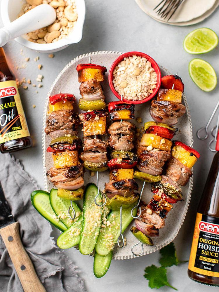 Aussie Summer Pork and Pineapple Skewers