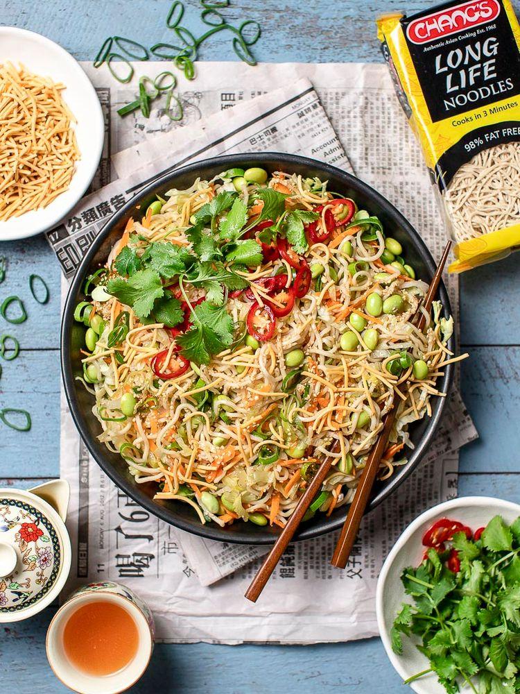 Noodle Salad with Edamame Beans