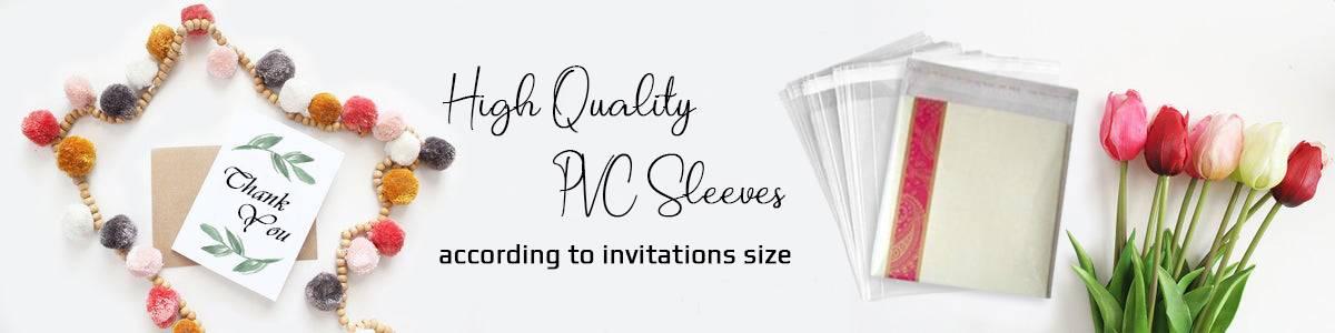 DIY PVC Wedding Sleeves -123WeddingCards