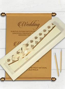 Scroll Wedding Invitations.Indian Wedding Invitations Wedding Cards 123weddingcards
