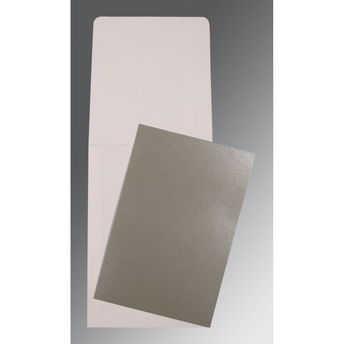 GREY GLOSSY PERSONAL INVITATIONS : CP-0006 - IndianWeddingCards