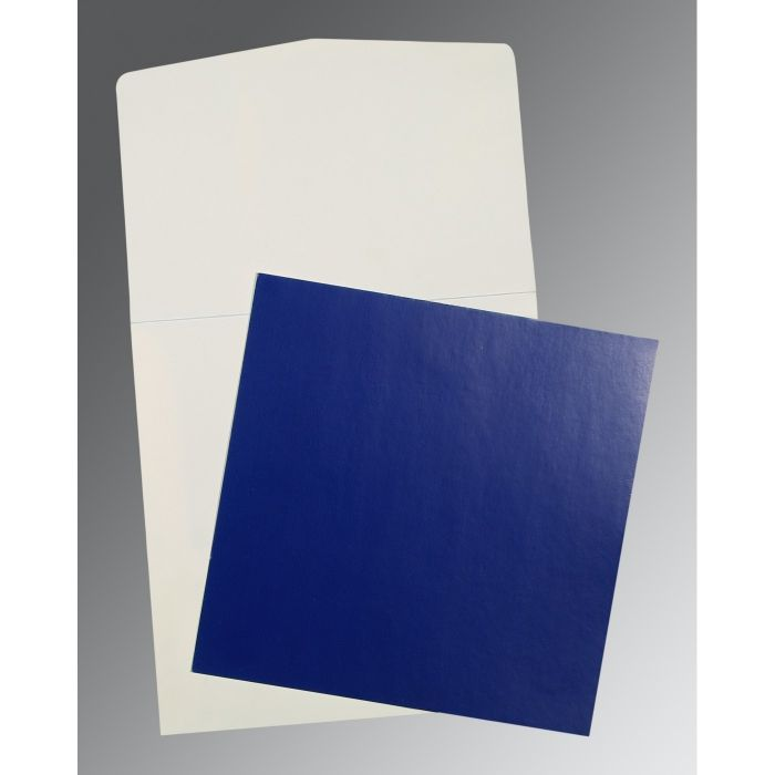 BLUE GLOSSY PERSONAL CARDS : P-0016 - 123WeddingCards
