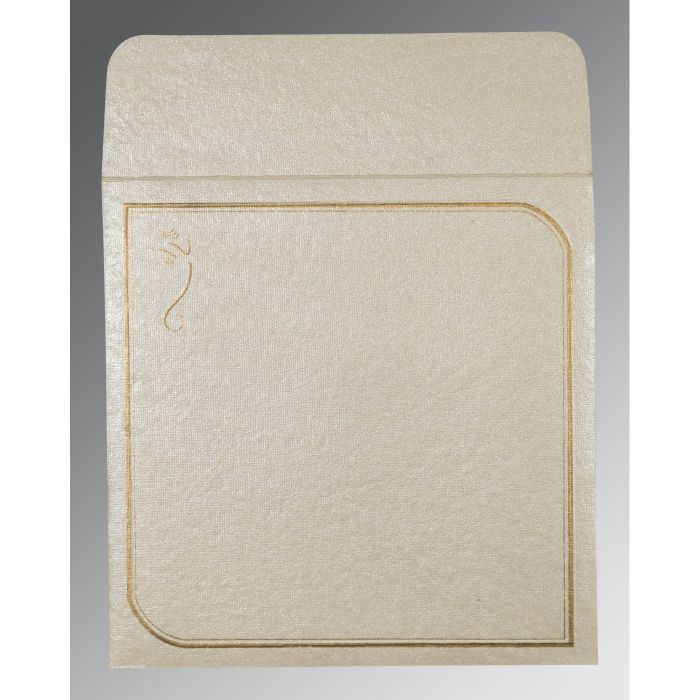 LIGHT GREY HANDMADE SHIMMER FOIL STAMPED WEDDING CARD : W-2235 - 123WeddingCards