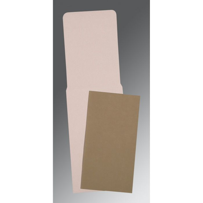 KHAKI MATTE PERSONAL CARDS : CP-0025 - IndianWeddingCards