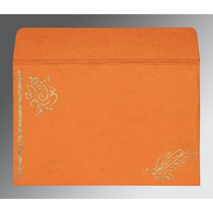 VIVID TANGELO MATTE SCREEN PRINTED WEDDING CARD : IN-2251 - 123WeddingCards