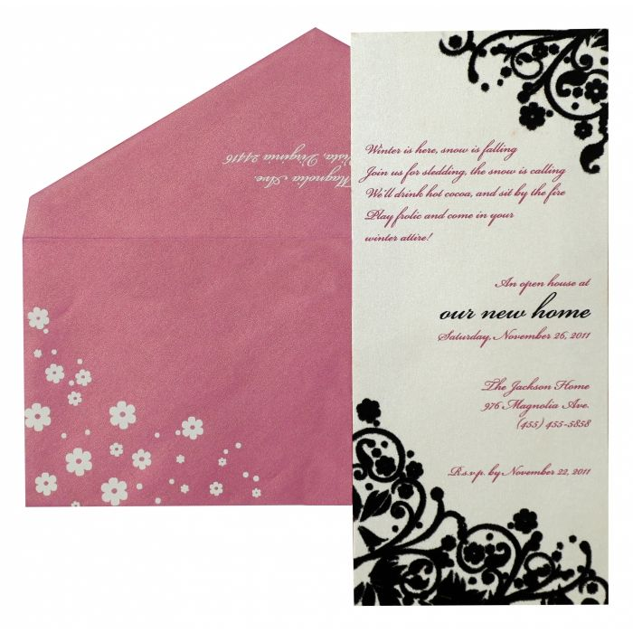 PAISLEY THEMED PARTY CARDS : CPY-879 - IndianWeddingCards