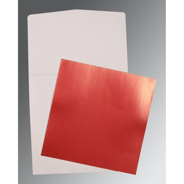 RED GLOSSY PERSONAL INVITATIONS : P-0020 - 123WeddingCards