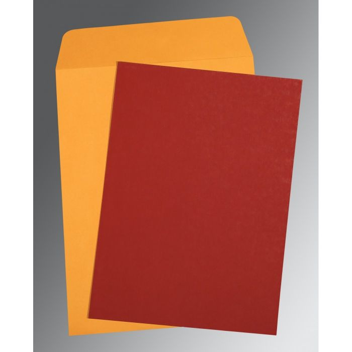 MAROON MATTE PERSONAL INVITATIONS : P-0031 - 123WeddingCards