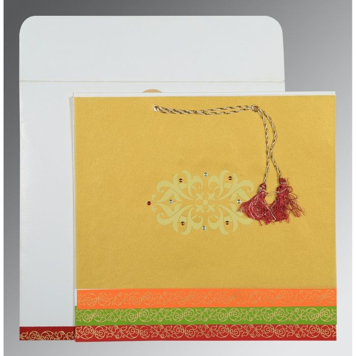 ROB ROY SCREEN PRINTED WEDDING CARD : CSO-1396 - IndianWeddingCards