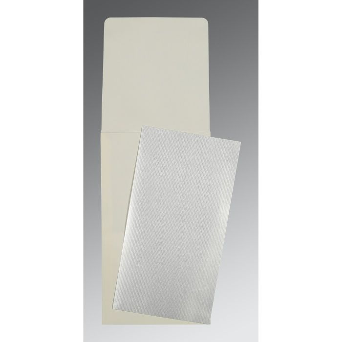 SILVER SHIMMERY PERSONAL INVITATIONS : P-0011 - 123WeddingCards