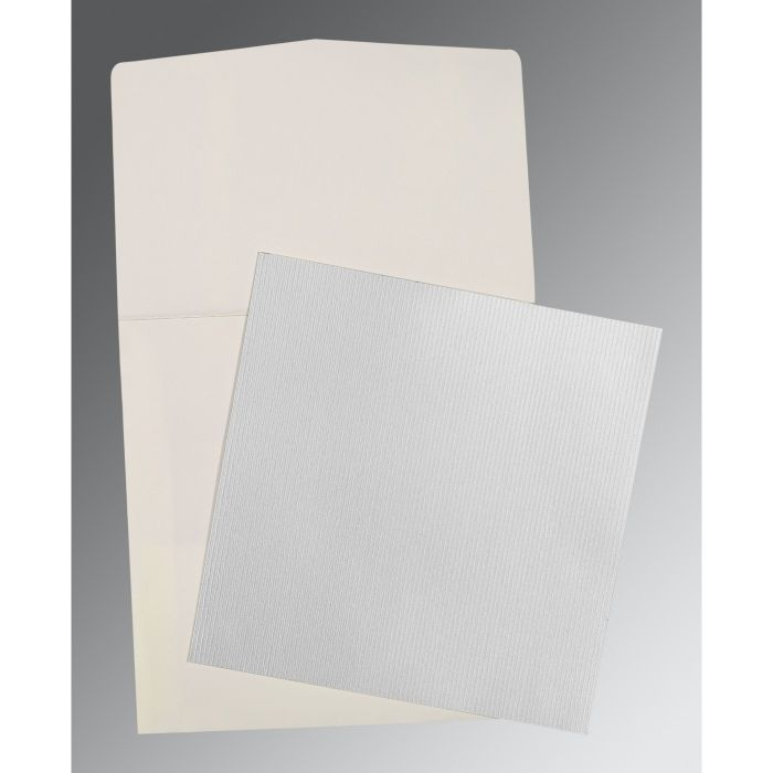SILVER SHIMMERY PERSONAL INVITATIONS : P-0015 - 123WeddingCards