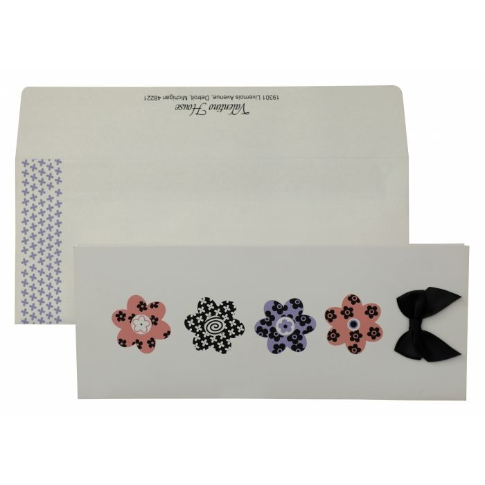 WHITE MATTE SCREEN PRINTED HOLIDAY CARDS : CH-864 - IndianWeddingCards