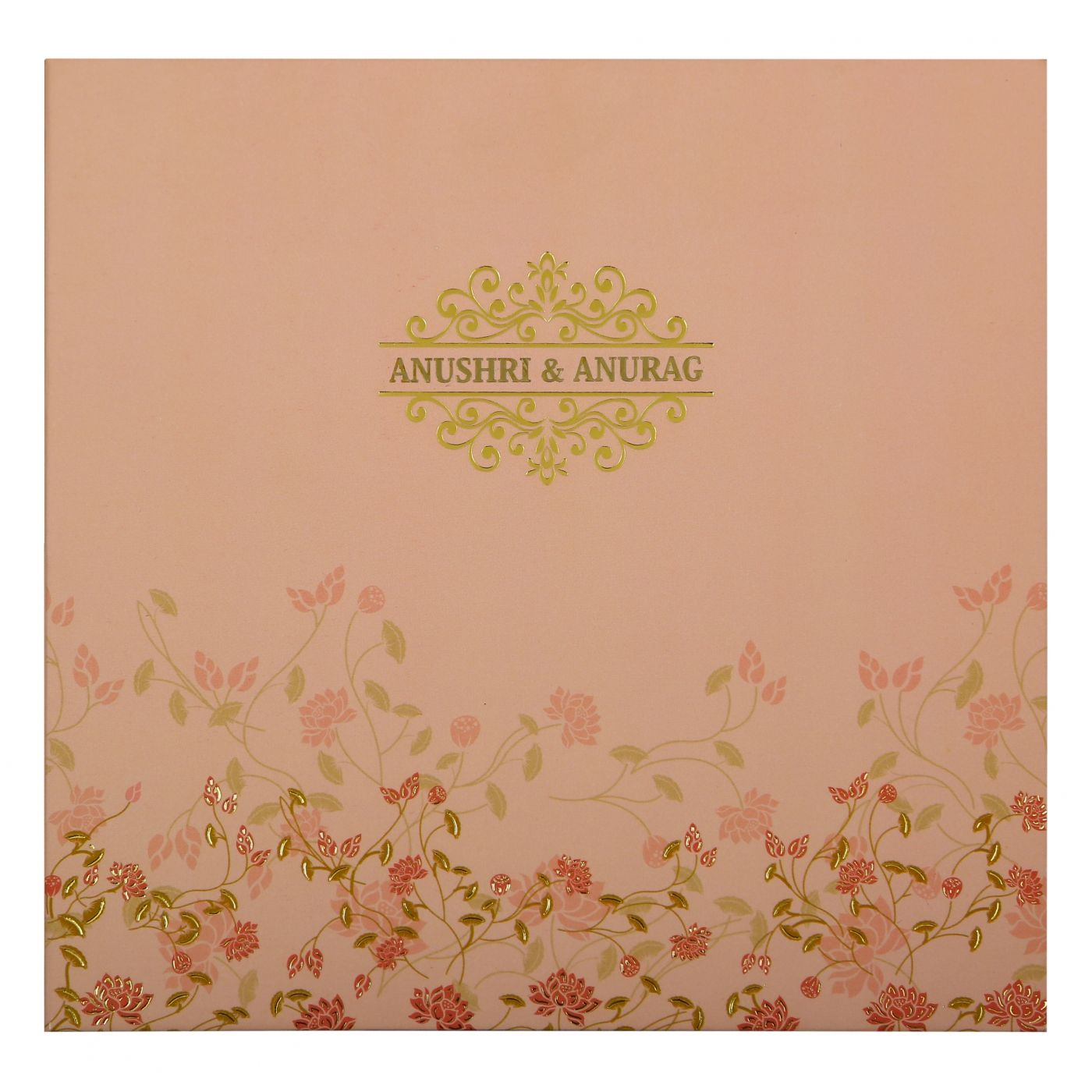 BABY PINK MATTE BOX THEMED - FOIL STAMPED WEDDING INVITATION : CW-1847 - IndianWeddingCards