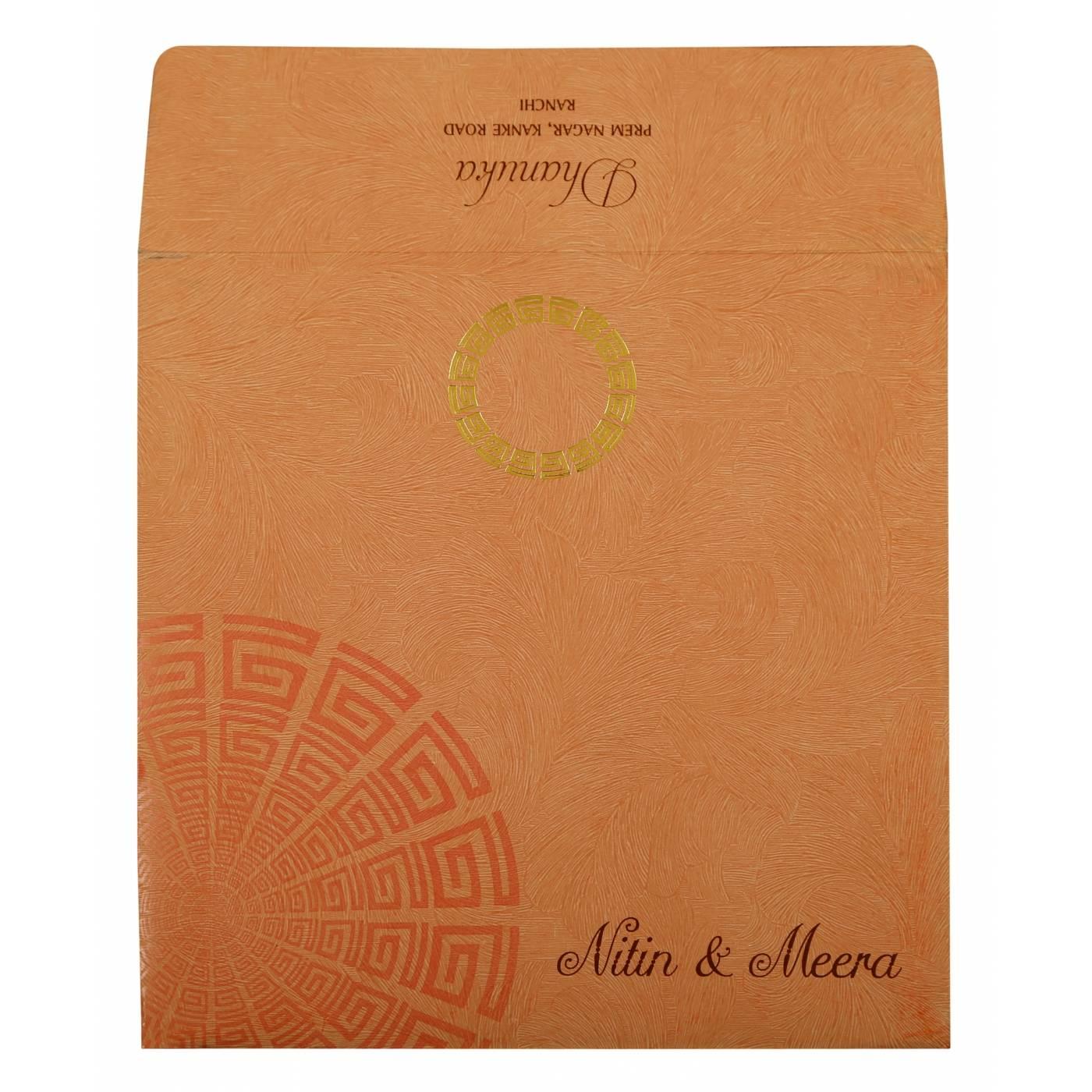 BABY PINK MATTE FOIL STAMPED WEDDING INVITATION : CI-1889 - IndianWeddingCards