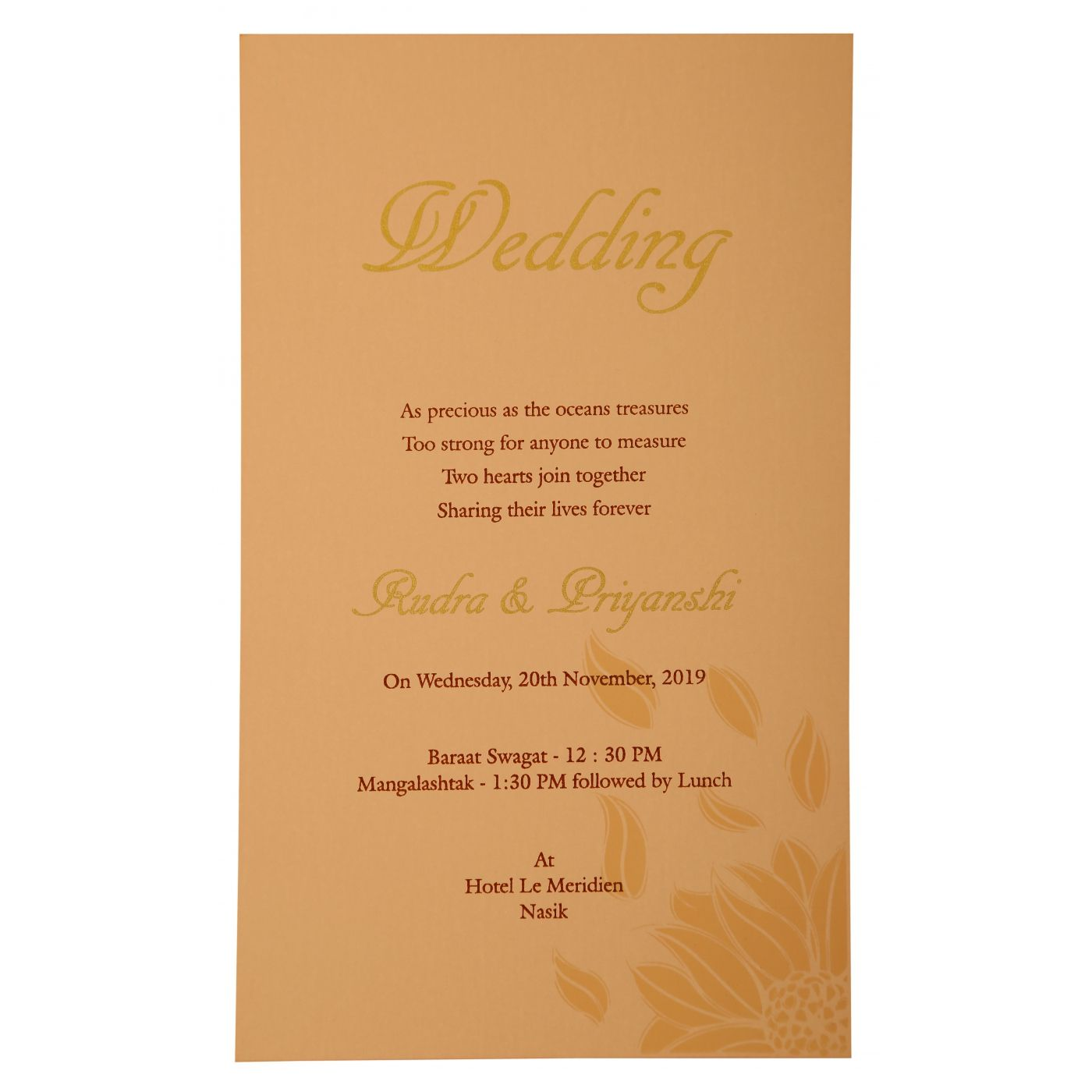 BABY PINK MATTE LASER CUT WEDDING INVITATION : CI-1926 - IndianWeddingCards