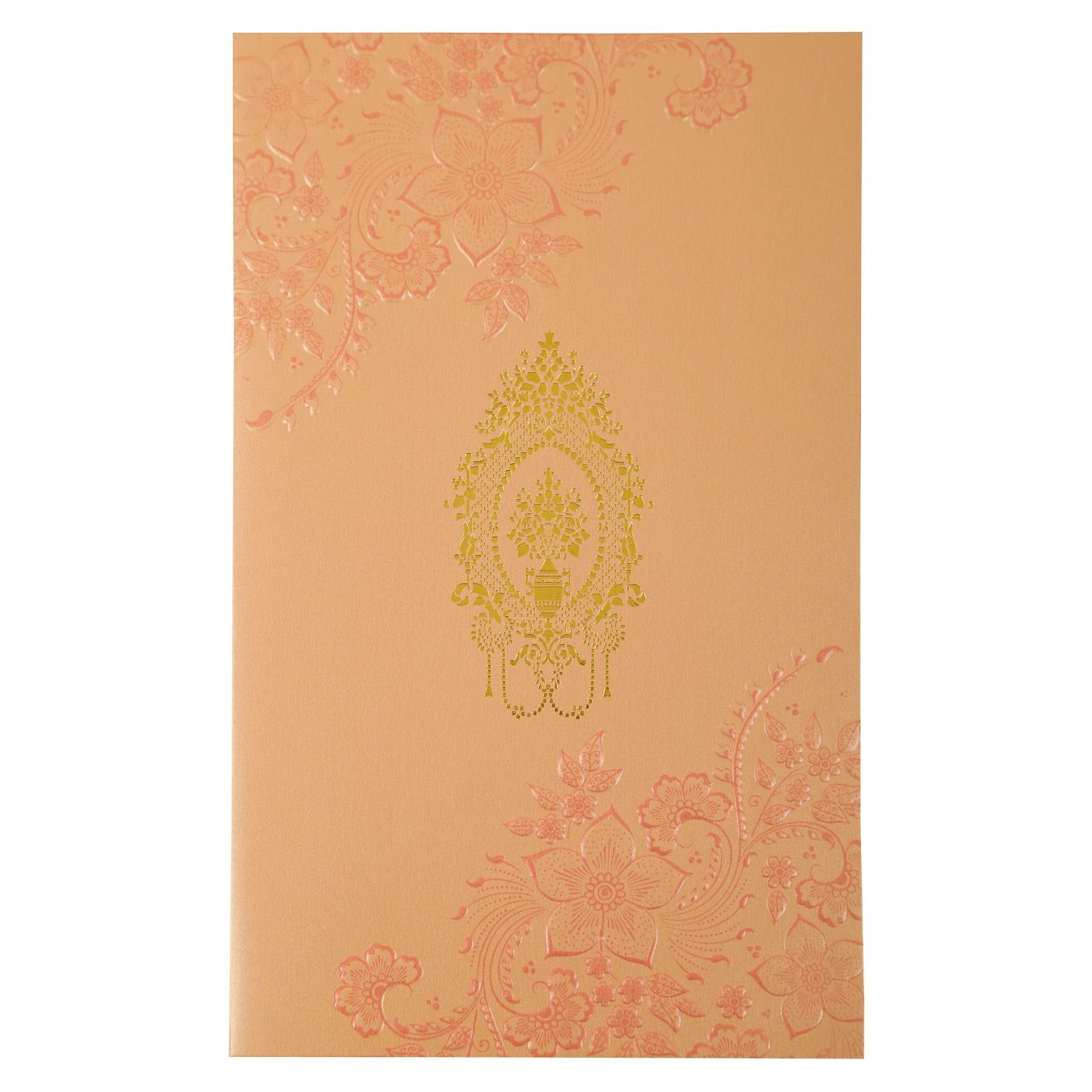 BABY PINK SHIMMERY FLORAL THEMED - FOIL STAMPED WEDDING INVITATION : CIN-1921 - IndianWeddingCards
