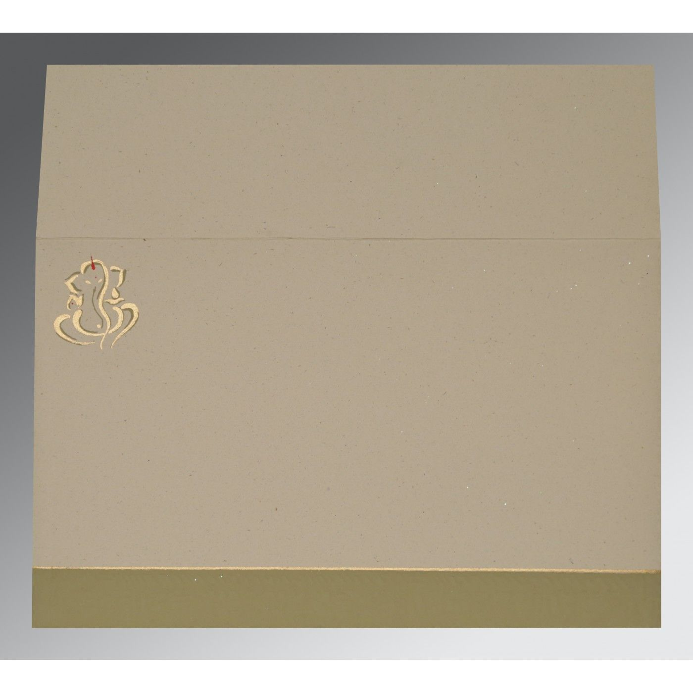 KHAKI MATTE EMBOSSED WEDDING CARD : CIN-2117 - IndianWeddingCards