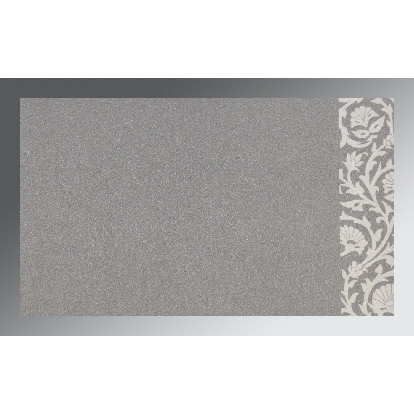 GREY SCREEN PRINTED WEDDING INVITATION : CW-1371 - IndianWeddingCards