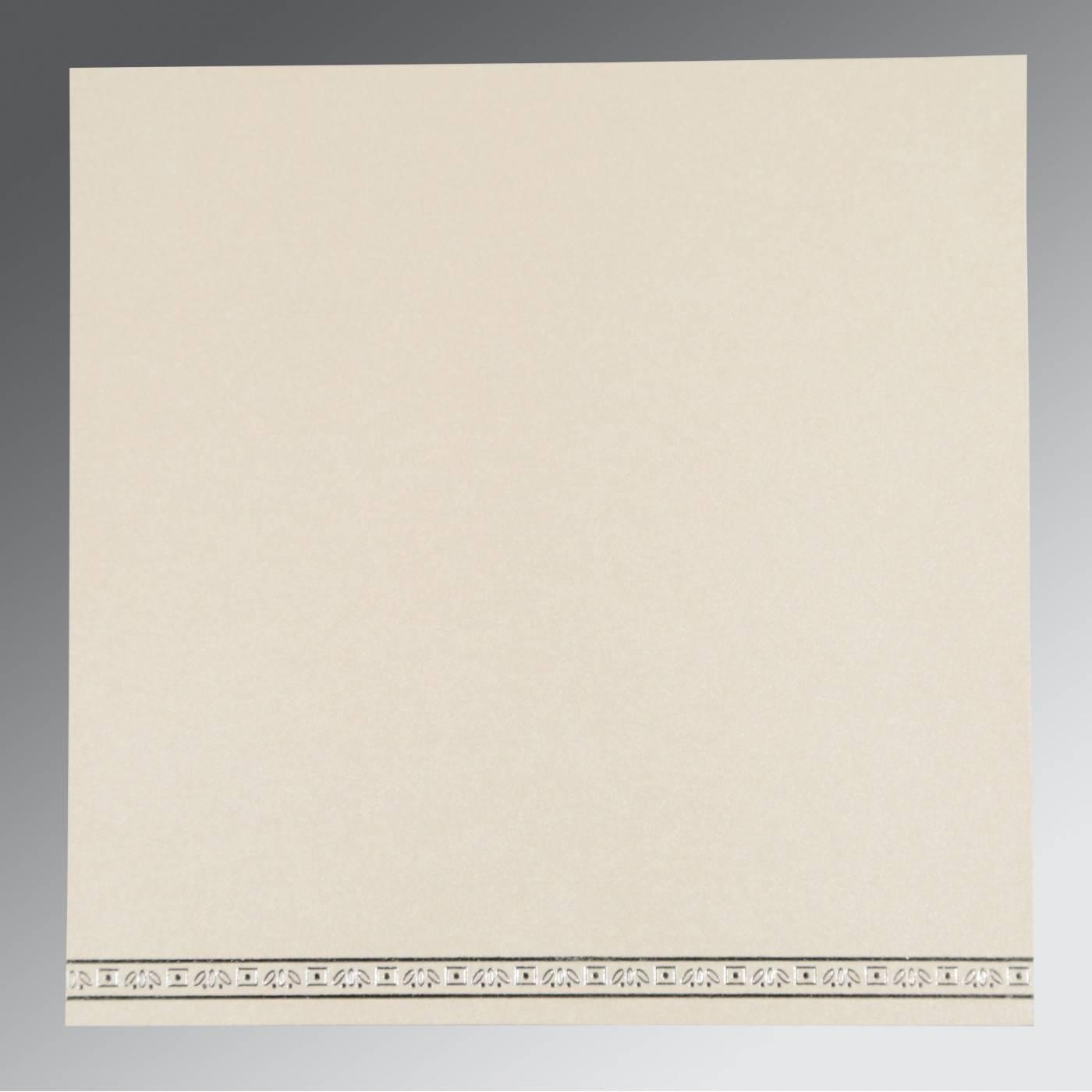 BLACK WOOLY FOIL STAMPED WEDDING CARD : CRU-8242B - IndianWeddingCards