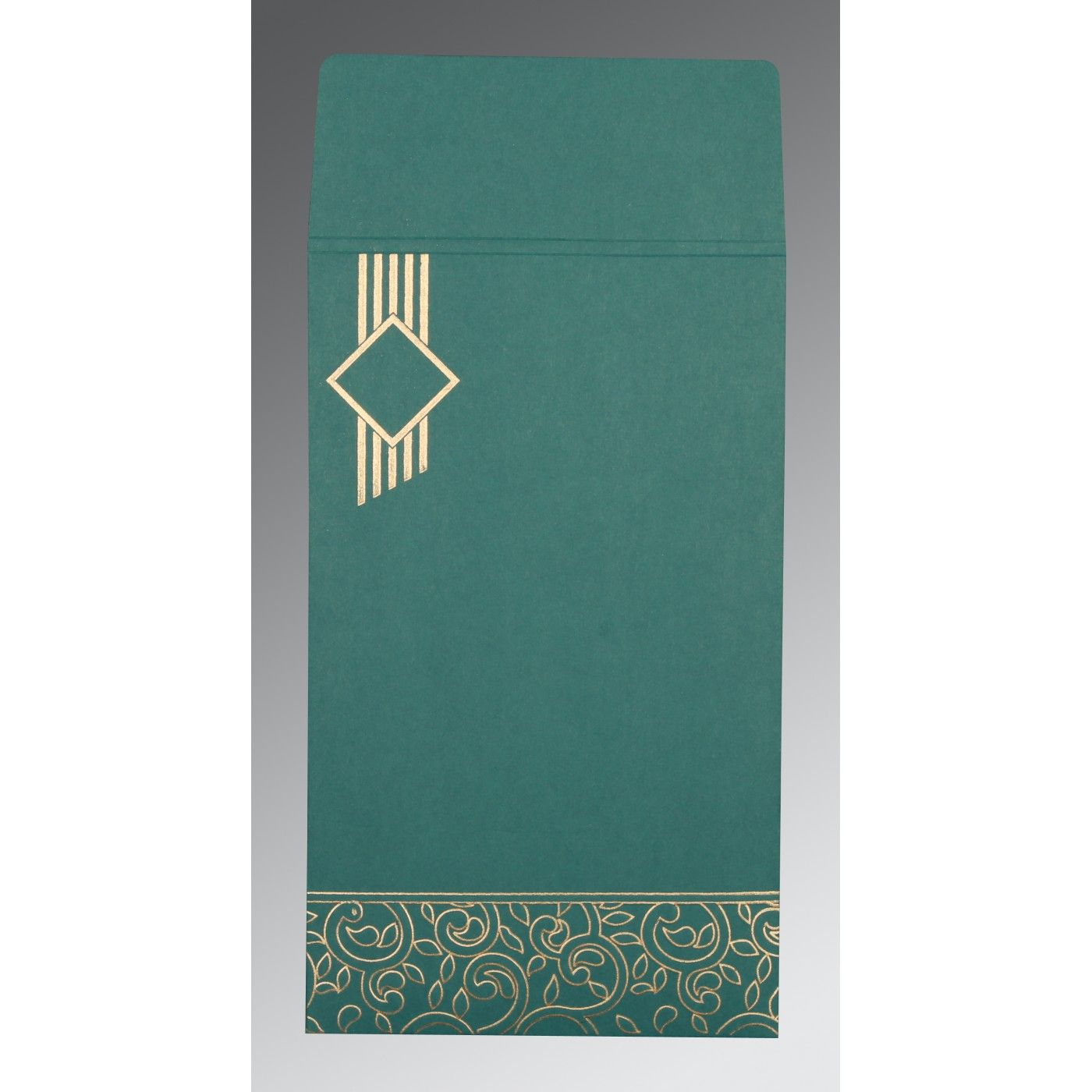 TEAL BLUE MATTE BOX THEMED - EMBOSSED WEDDING INVITATION : CG-1438 - IndianWeddingCards
