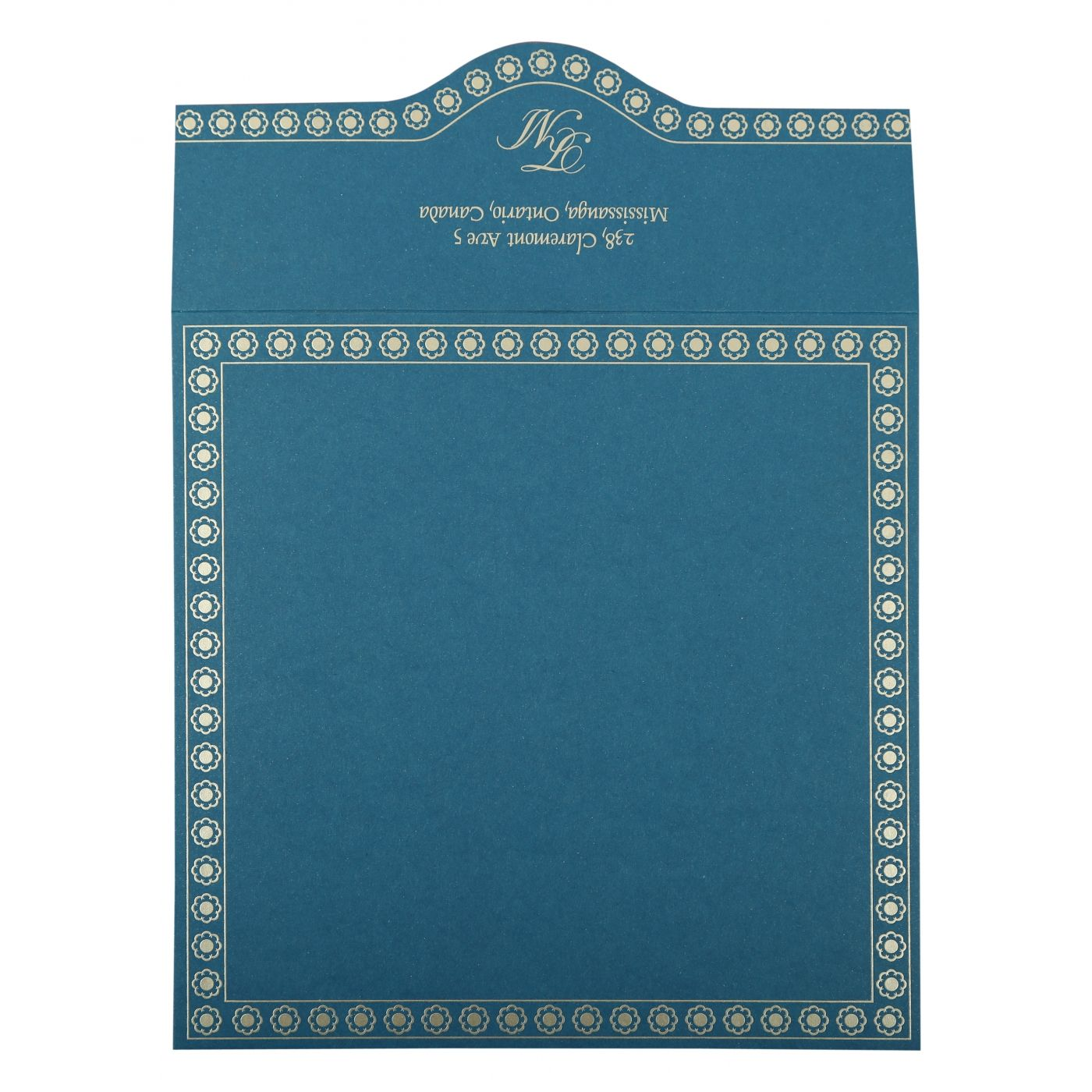 BLUE BUTTERFLY THEMED - SCREEN PRINTED WEDDING INVITATION : CI-820D - IndianWeddingCards