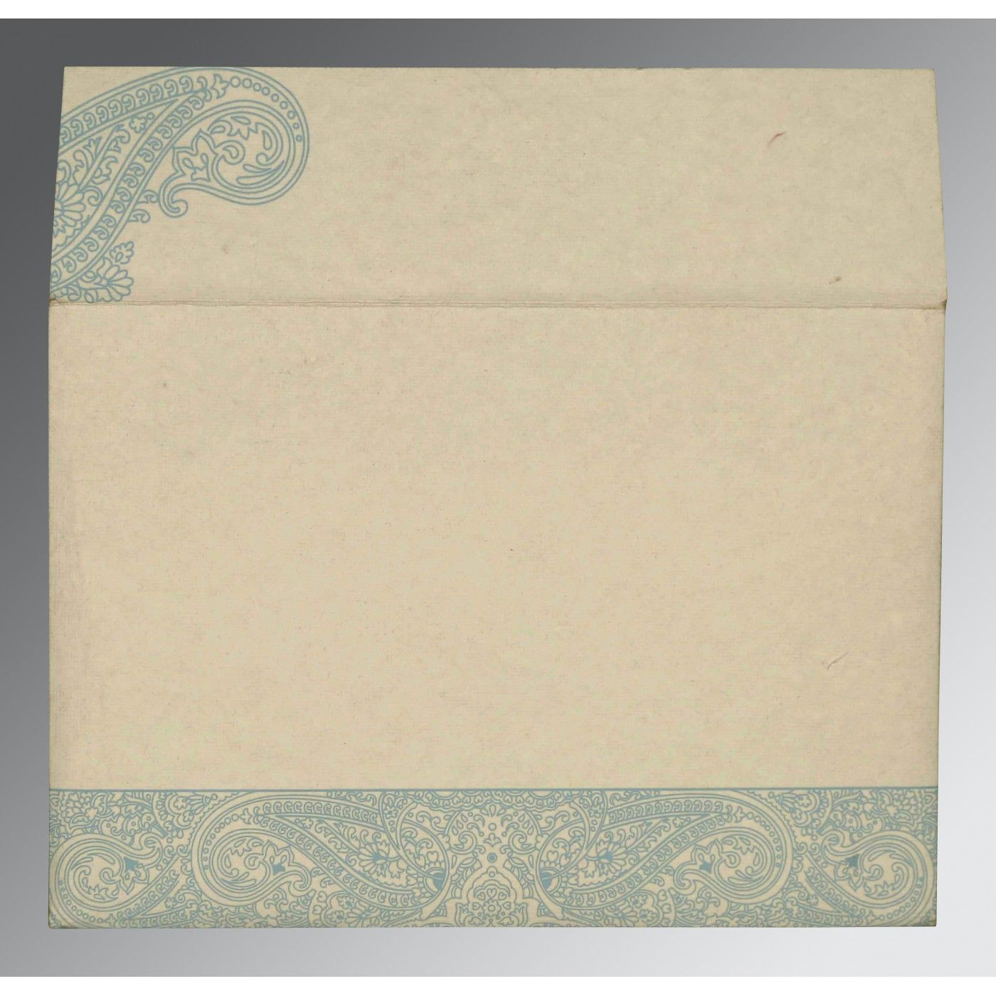 BURMUDA GREY HANDMADE COTTON EMBOSSED WEDDING CARD : CW-8234E - IndianWeddingCards