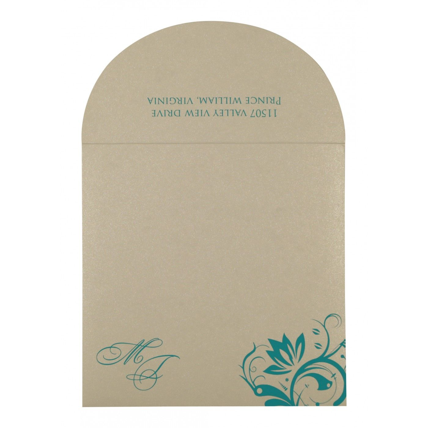 STRONG CYAN MATTE PAISLEY THEMED - SCREEN PRINTED WEDDING CARD : CI-8264G - IndianWeddingCards