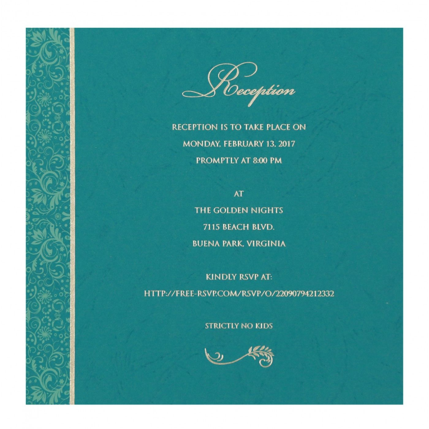 STRONG CYAN MATTE PAISLEY THEMED - SCREEN PRINTED WEDDING CARD : CSO-8264G - IndianWeddingCards