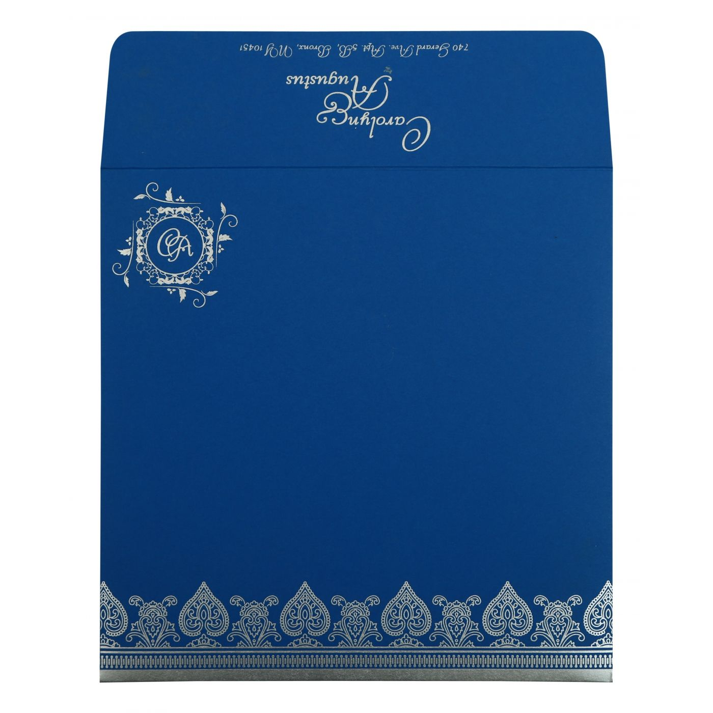 BLUE MATTE SCREEN PRINTED WEDDING INVITATION : CSO-809D - IndianWeddingCards