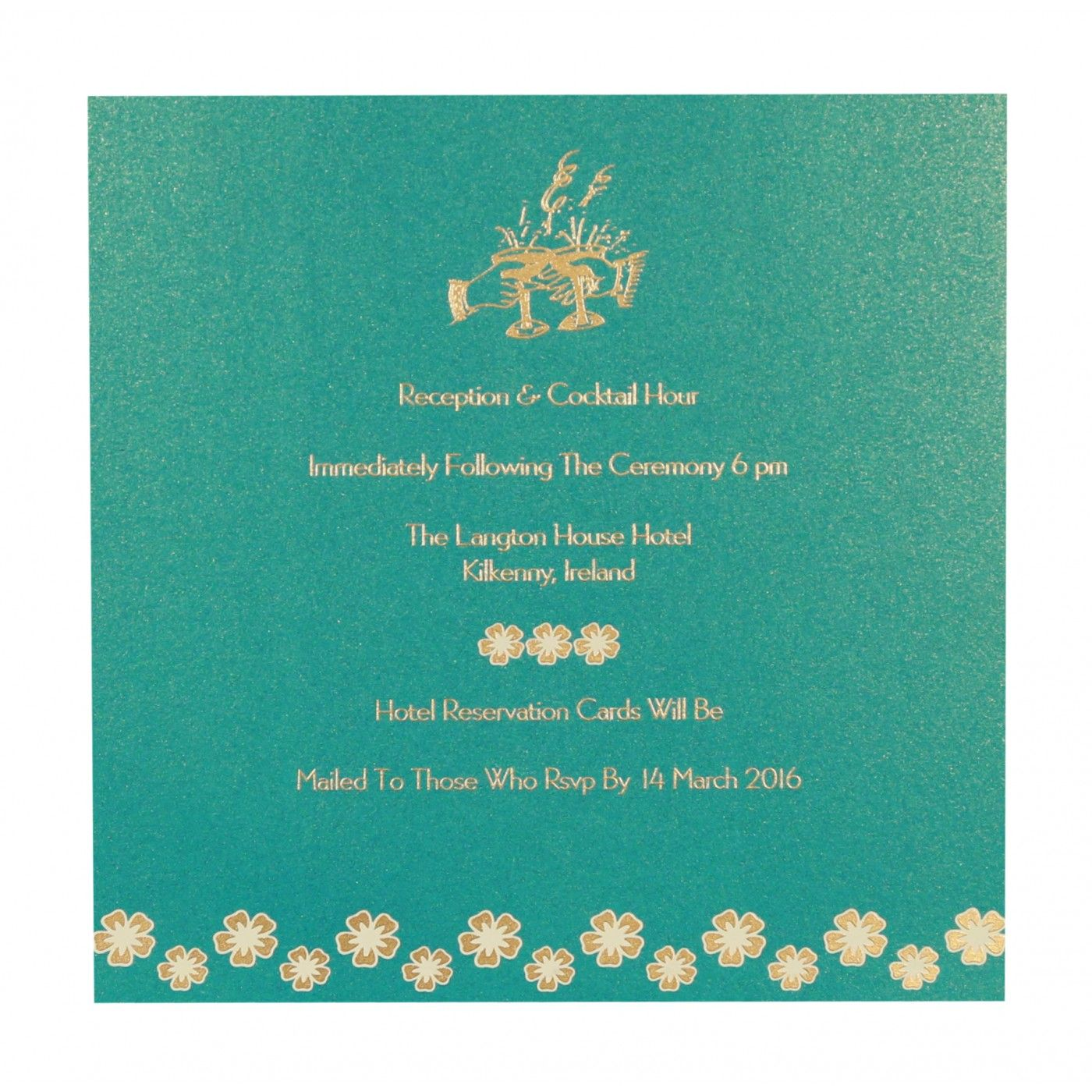 TURQUOISE SHIMMERY BUTTERFLY THEMED - SCREEN PRINTED WEDDING CARD : CG-8258D - IndianWeddingCards