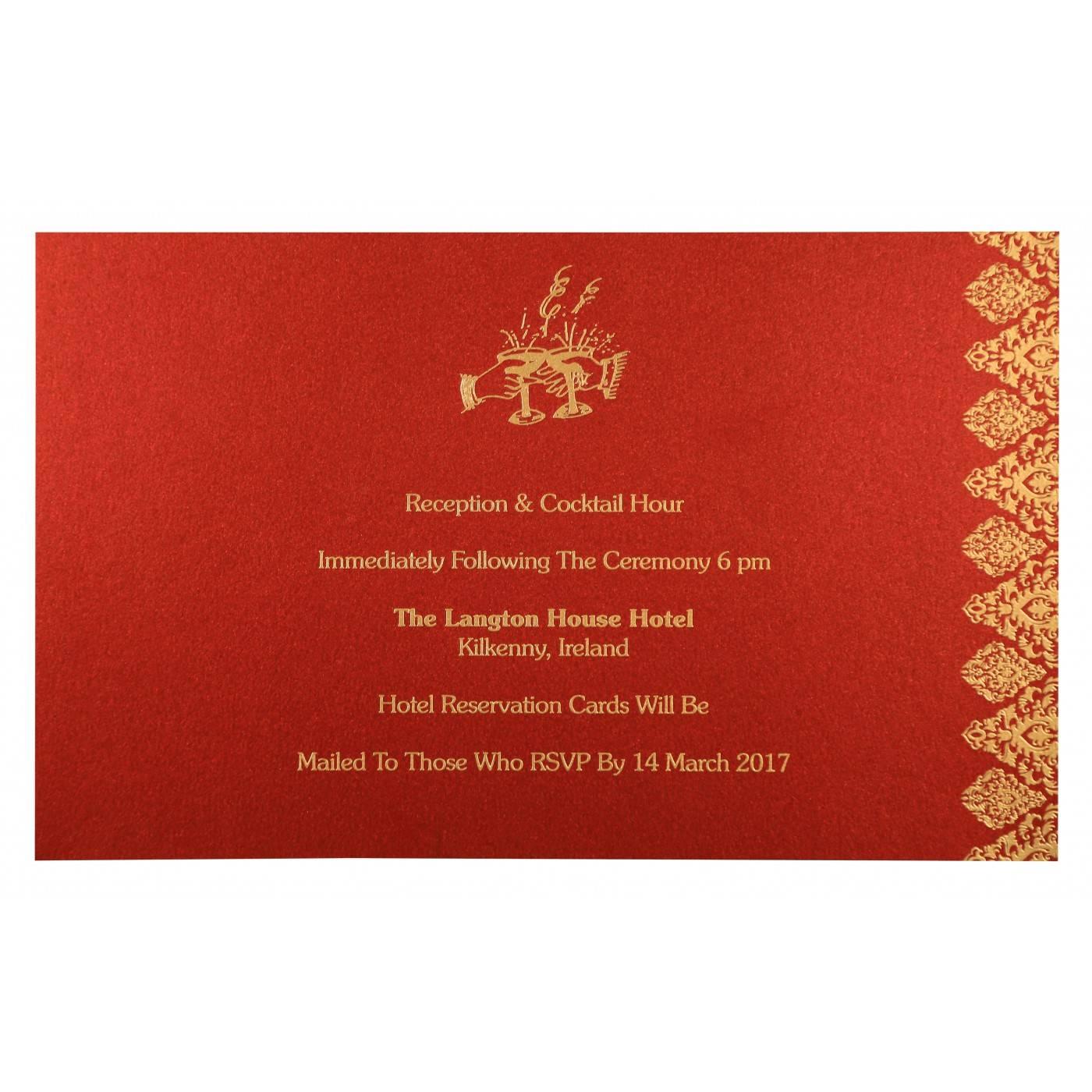 MEDIUM GREY SHIMMERY DAMASK THEMED - LASER CUT WEDDING CARD : CIN-8262E - IndianWeddingCards