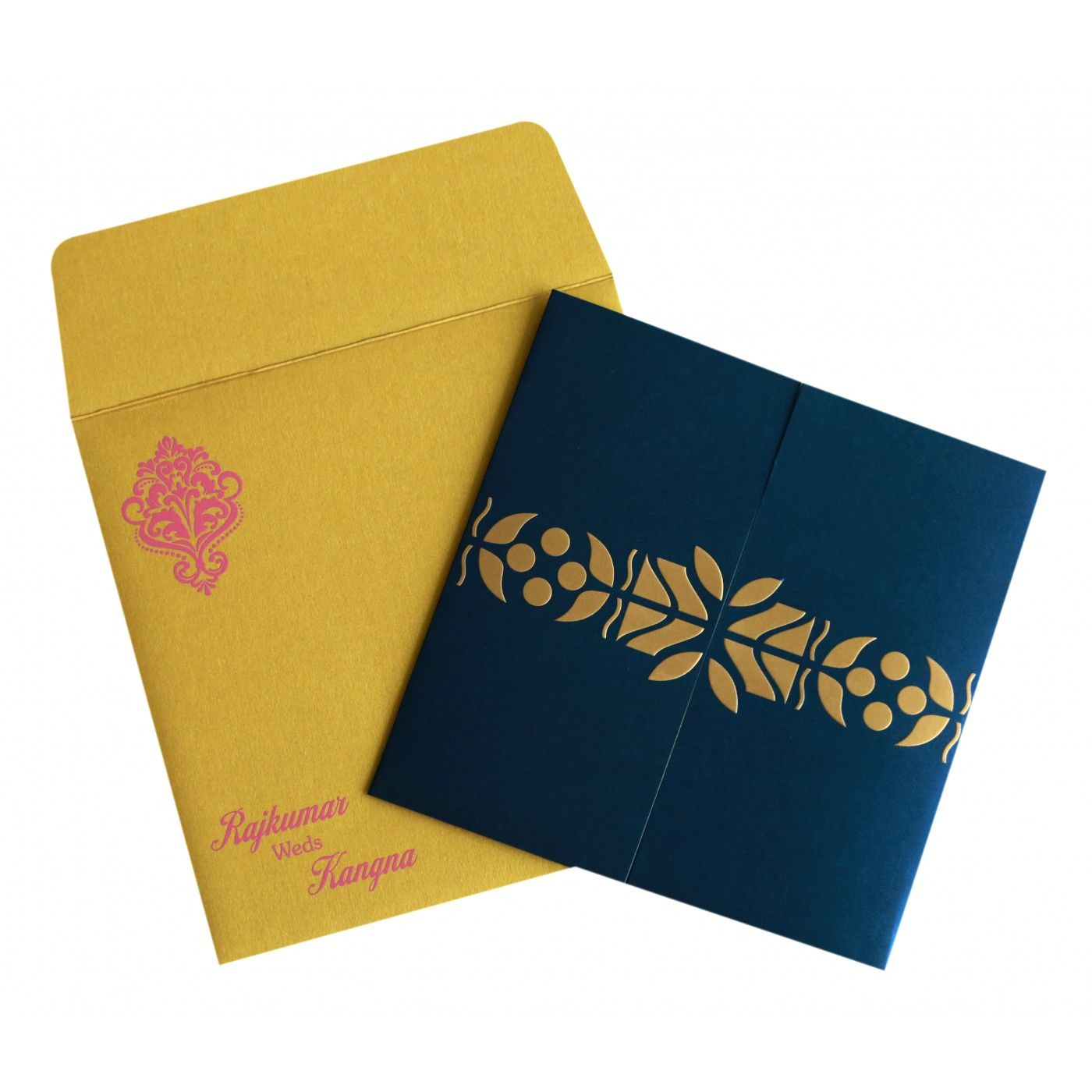 WEDDING INVITATION : CC-8260A - IndianWeddingCards
