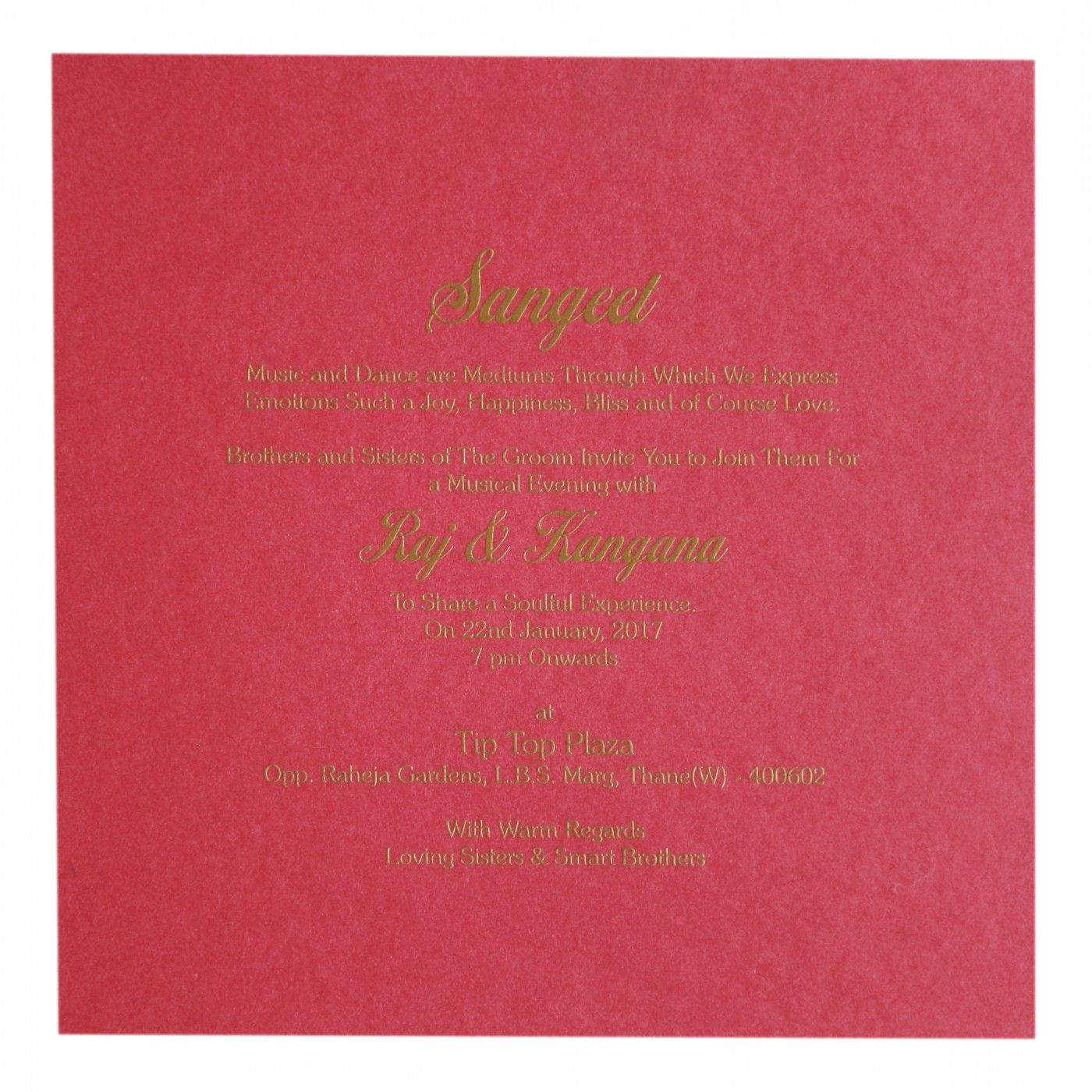 DEEP BLUE SHIMMERY EMBOSSED WEDDING INVITATION : CW-8260A - IndianWeddingCards