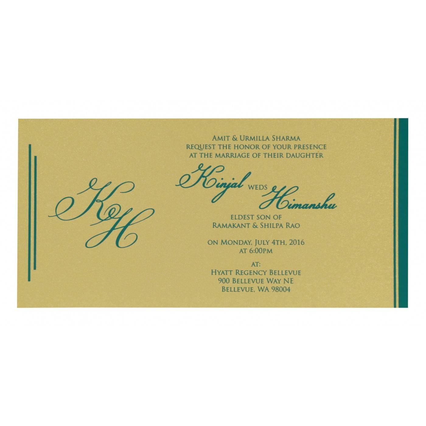 CYAN BLUE SHIMMERY FLORAL THEMED - SCREEN PRINTED WEDDING CARD : CS-8259B - IndianWeddingCards