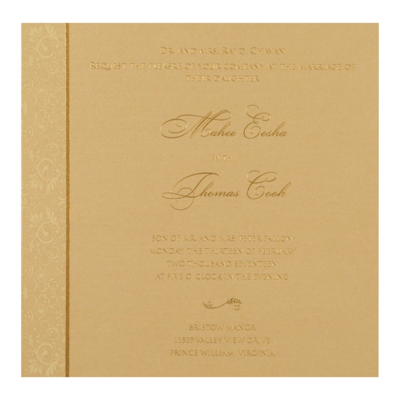WEDDING CARD : CC-8264F - IndianWeddingCards