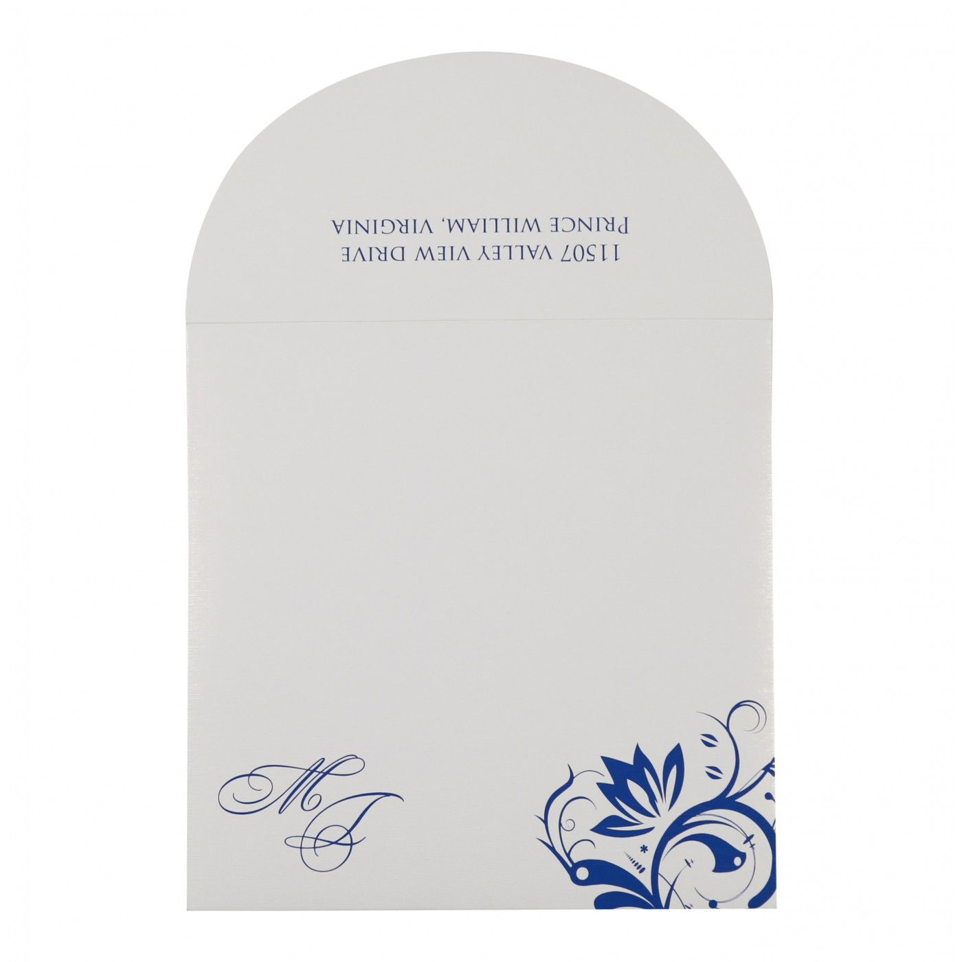 SKY BLUE SHIMMERY PAISLEY THEMED - SCREEN PRINTED WEDDING CARD : CD-8264H - IndianWeddingCards