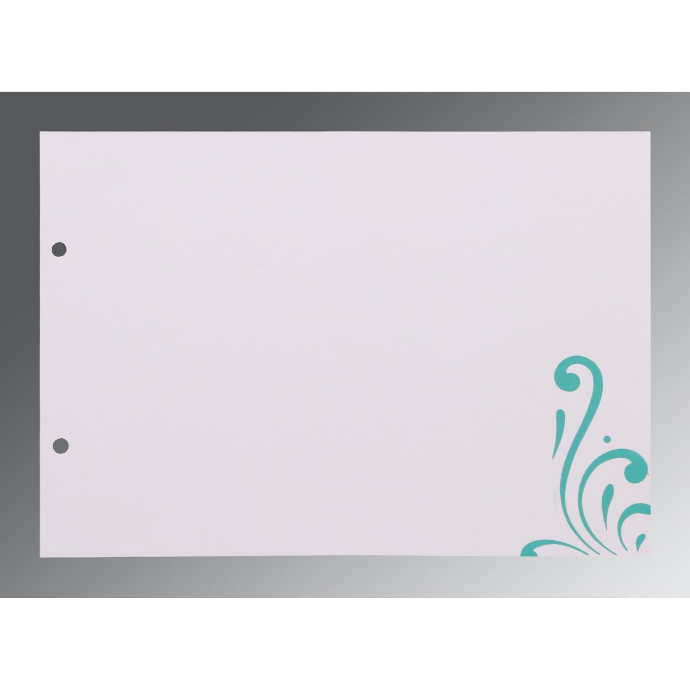 TURQUOISE SHIMMERY SCREEN PRINTED WEDDING CARD : CW-8223H - IndianWeddingCards